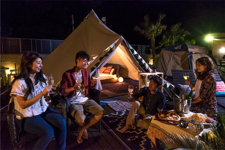グランピング IN カームラナイハーバーのテント1